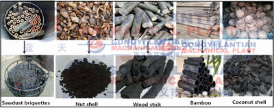 Charcoal powder briquettes machine