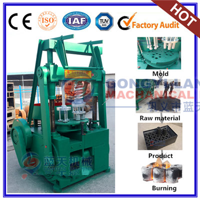 Bagasse charcoal BBQ making machine