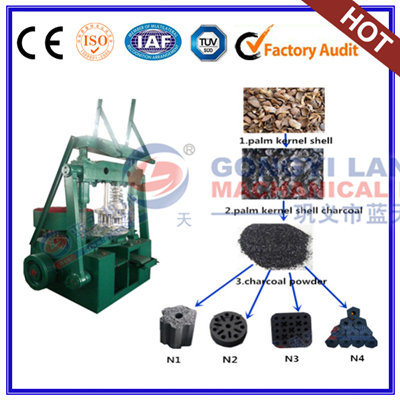 Palm kernel shell charcoal briquettes machine