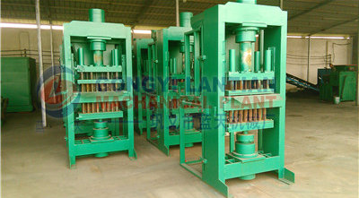 BBQ hardwood briquettes making machine