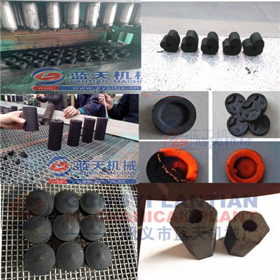 Coffee shell charcoal briquettes press machine