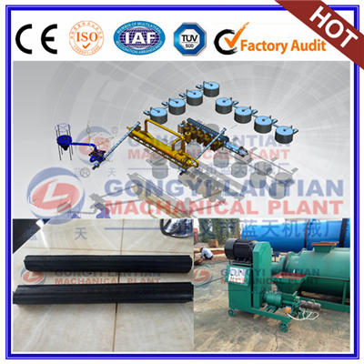 Rod charcoal briquettes machine