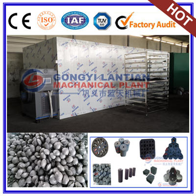 Charcoal briquettes dryer