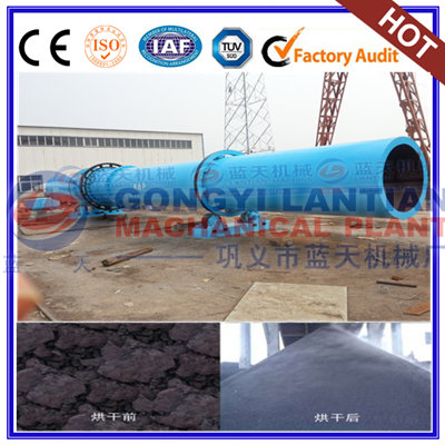 Coal peat rotary dryer