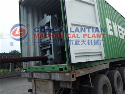 Load charcoal briquettes dryer to Palestine