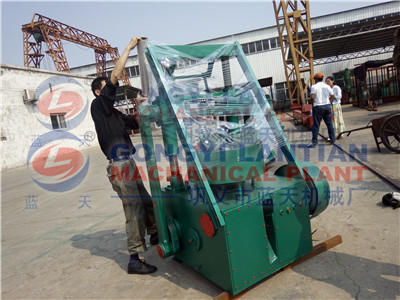 Load Charcoal powder briquettes machine to Ethiopia